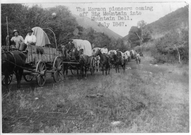 The_Mormon_pioneers_coming_off_Big_Mountain_into_Mountain_dell